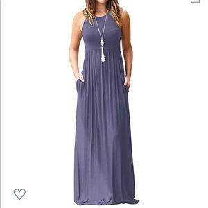 Purple maxi dress with pockets!